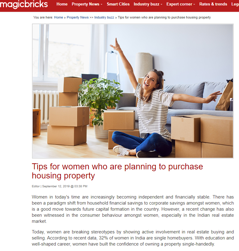 Tips for women who are planning to purchase housing property