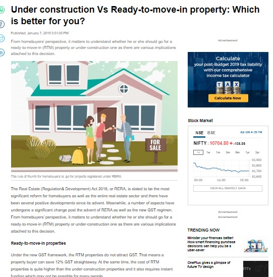 Under construction Vs Ready-to-move-in property: Which is better for you?
